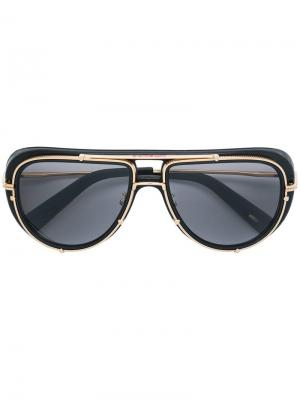 Солнцезащитные очки-авиаторы Mille Miglia Chopard. Цвет: черный