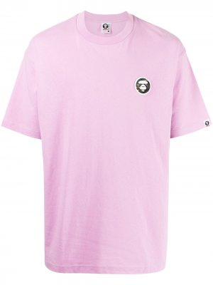 Футболка с логотипом AAPE BY *A BATHING APE®. Цвет: розовый