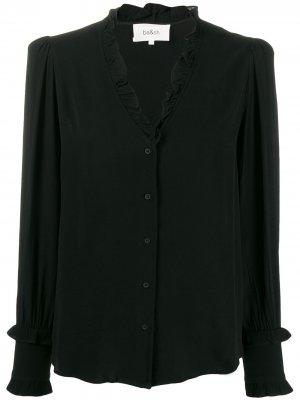 Блузка Unity с оборкой на воротнике Ba&Sh. Цвет: черный