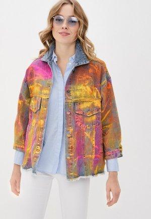 Куртка джинсовая Forza Viva. Цвет: разноцветный