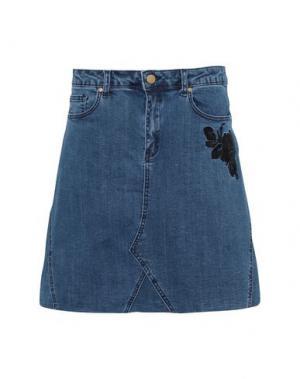 Джинсовая юбка GEORGE J. LOVE. Цвет: синий