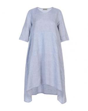 Платье до колена BIONEUMA NATURAL FASHION. Цвет: небесно-голубой