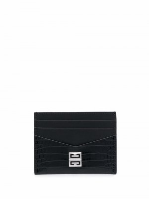 Картхолдер с логотипом 4G Givenchy. Цвет: черный