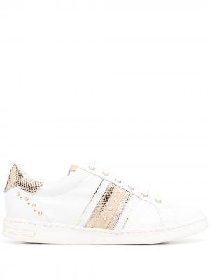 Кроссовки со вставками Geox. Цвет: белый