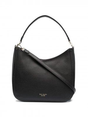 Большая сумка на плечо Roulette Kate Spade. Цвет: черный
