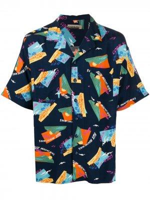 Рубашка с принтом Blue Mountains Napapijri. Цвет: синий