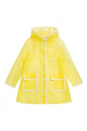 Желтый дождевик Bonpoint. Цвет: желтый