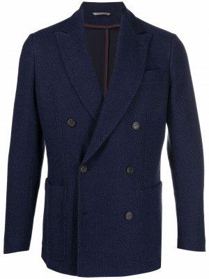Пиджак из джерси Canali. Цвет: синий