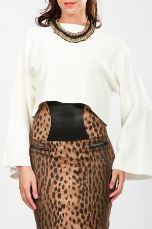 Пуловер Cocogio. Цвет: белый