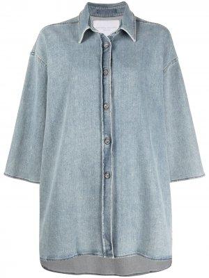 Джинсовая куртка с классическим воротником Fabiana Filippi. Цвет: синий