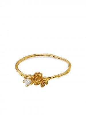 Кольцо Rosa Noisette из желтого золота с бриллиантами Alex Monroe. Цвет: золотистый