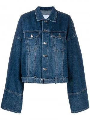 Джинсовая куртка оверсайз SJYP. Цвет: синий