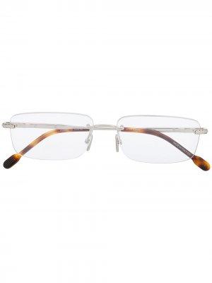 Очки с прямоугольными линзами без оправы Fred. Цвет: серебристый
