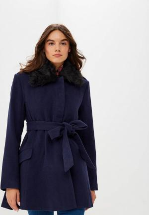 Пальто Lost Ink SKIRTED COAT. Цвет: синий