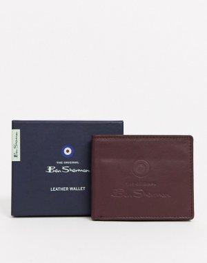 Кожаный кошелек с RFID от -Коричневый Ben Sherman