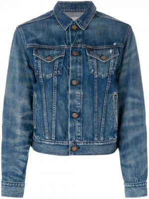 Укороченная джинсовая куртка Polo Ralph Lauren. Цвет: синий