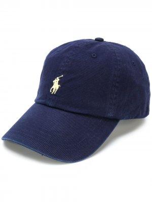 Кепка с логотипом Polo Ralph Lauren. Цвет: синий