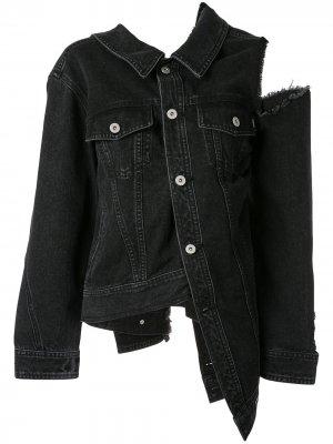 Джинсовая куртка с эффектом потертости Ground Zero. Цвет: серый
