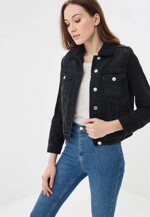Куртка джинсовая Miss Selfridge. Цвет: черный
