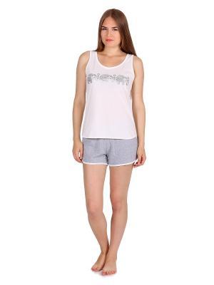 Пижама Flip. Цвет: кремовый