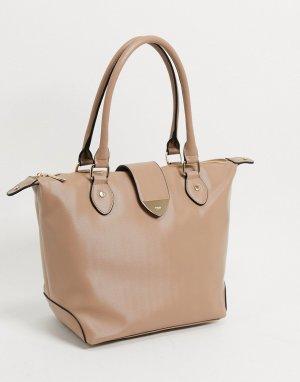 Бежевая сумка-тоут -Светло-коричневый Dune