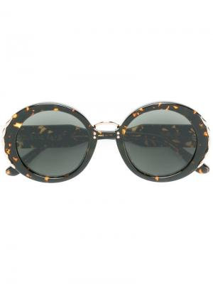 Декорированные солнцезащитные очки в круглой оправе Elie Saab