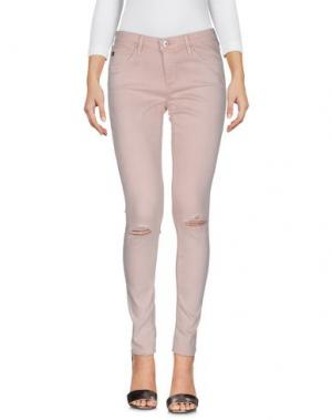 Джинсовые брюки AG JEANS. Цвет: розовый