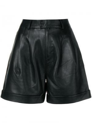Кожаные шорты Karl Lagerfeld. Цвет: черный
