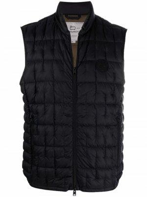 Стеганый жилет Woolrich. Цвет: черный