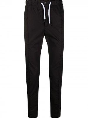 Спортивные брюки кроя слим с кулиской Daniele Alessandrini. Цвет: черный