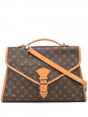 Портфель Beverly MM pre-owned с монограммой Louis Vuitton. Цвет: коричневый