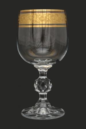 Набор бокалов, 6 шт BOHEMIA CRYSTAL. Цвет: прозрачный, золотой