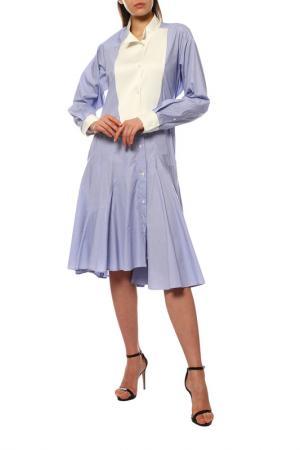 Платье Loewe. Цвет: white, blue