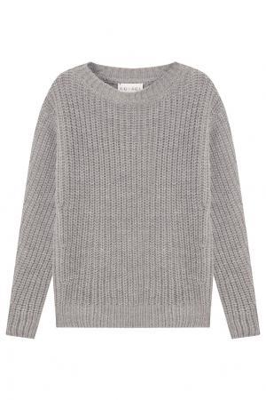 Серый вязаный пуловер Kuraga. Цвет: серый