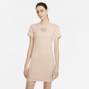 Платье с коротким рукавом Sportswear Femme - Оранжевый Nike