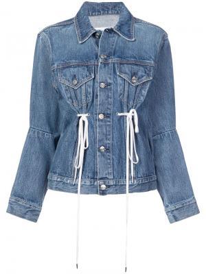 Джинсовая куртка PSWL с кулиской Proenza Schouler. Цвет: синий