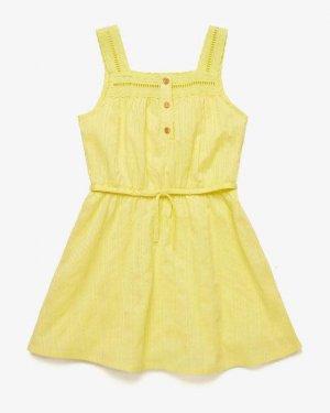 Сарафан Benetton. Цвет: желтый