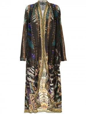 Пальто с принтом Camilla. Цвет: разноцветный