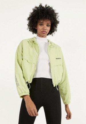 Куртка Bershka. Цвет: зеленый