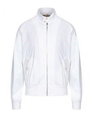 Куртка BARACUTA. Цвет: белый