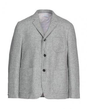 Пиджак THOM BROWNE. Цвет: светло-серый