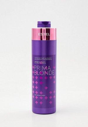 Бальзам для волос Estel PRIMA BLONDE, холодных оттенков блонд, PROFESSIONAL серебристый, 1000 мл. Цвет: прозрачный