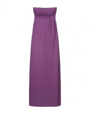 Платье длиной 3/4 FRANCESCA FERRANTE. Цвет: фиолетовый