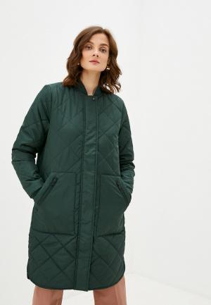 Куртка утепленная Selected Femme. Цвет: зеленый