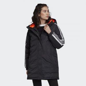 Утепленная куртка Long Originals adidas. Цвет: черный