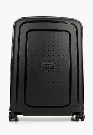 Чемодан Samsonite литраж 34 л, вес 2.9 кг.. Цвет: черный