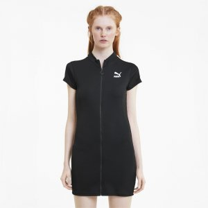 Платье Classics Ribbed Tight Dress PUMA. Цвет: черный