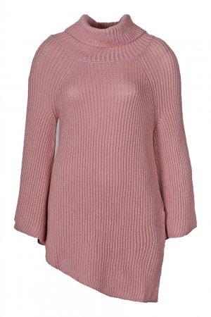 Розовый свитер с асимметричным низом Anna Rita N
