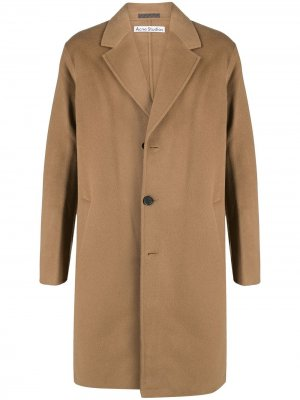 Однобортное пальто Acne Studios. Цвет: нейтральные цвета