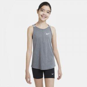 Майка для тренинга девочек школьного возраста Dri-FIT - Черный Nike